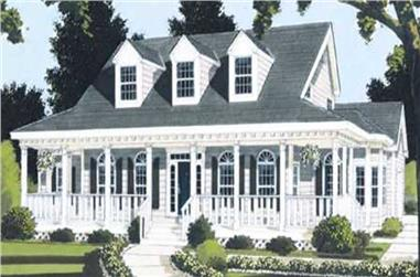4-Bedroom, 2177 Sq Ft Country Home Plan - 105-1108 - Main Exterior