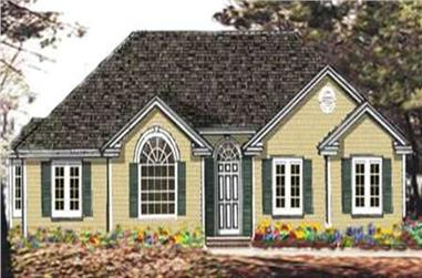3-Bedroom, 1373 Sq Ft Ranch Home Plan - 105-1109 - Main Exterior