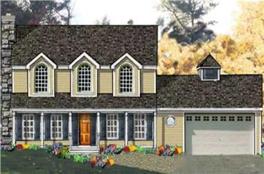 4-Bedroom, 2212 Sq Ft Country Home Plan - 105-1111 - Main Exterior