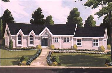 3-Bedroom, 1772 Sq Ft Ranch Home Plan - 105-1112 - Main Exterior
