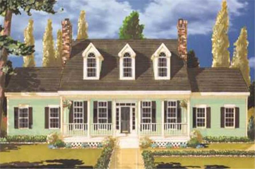 5-Bedroom, 2099 Sq Ft Country Home Plan - 105-1113 - Main Exterior