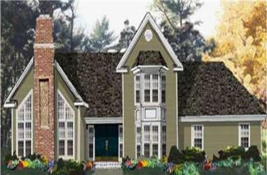4-Bedroom, 2225 Sq Ft Traditional House Plan - 105-1115 - Front Exterior