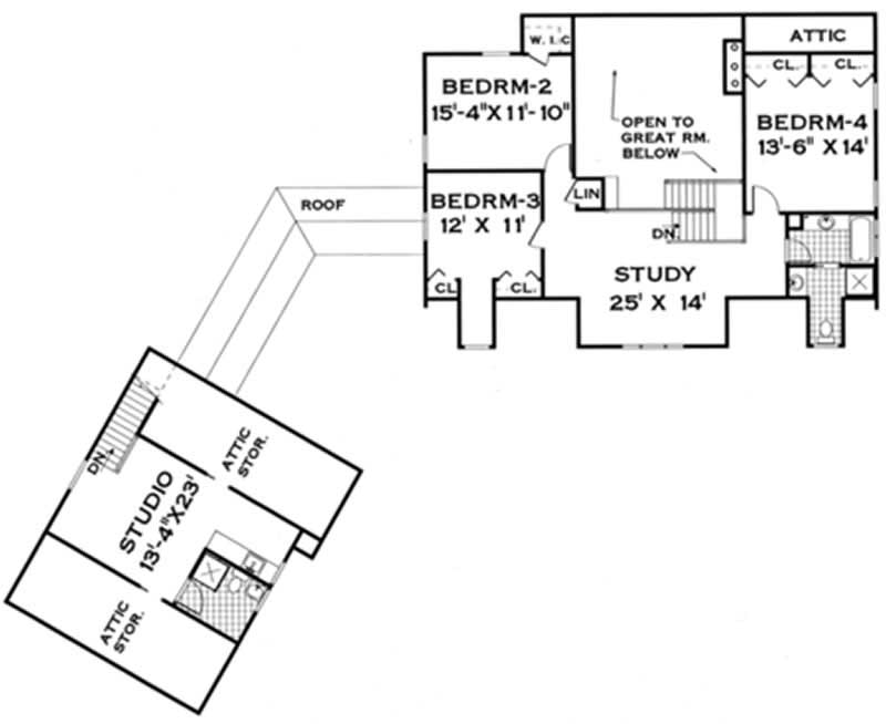 Country farmhouse home with 4 bdrms 3106 sq ft floor for 105 plan