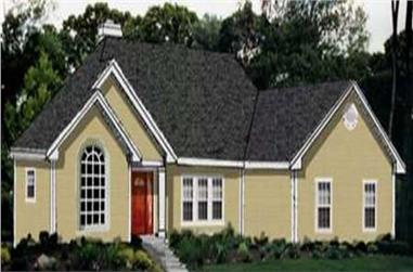 3-Bedroom, 2002 Sq Ft Ranch House Plan - 105-1117 - Front Exterior