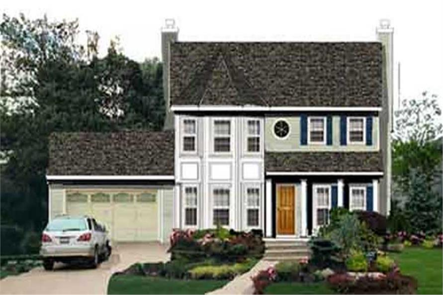 4-Bedroom, 2007 Sq Ft Colonial House Plan - 105-1119 - Front Exterior