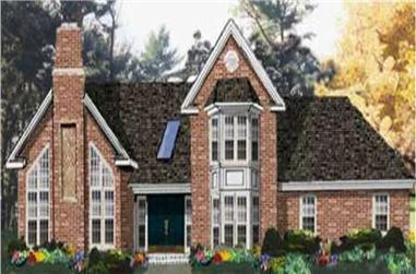 4-Bedroom, 2157 Sq Ft Traditional House Plan - 105-1120 - Front Exterior