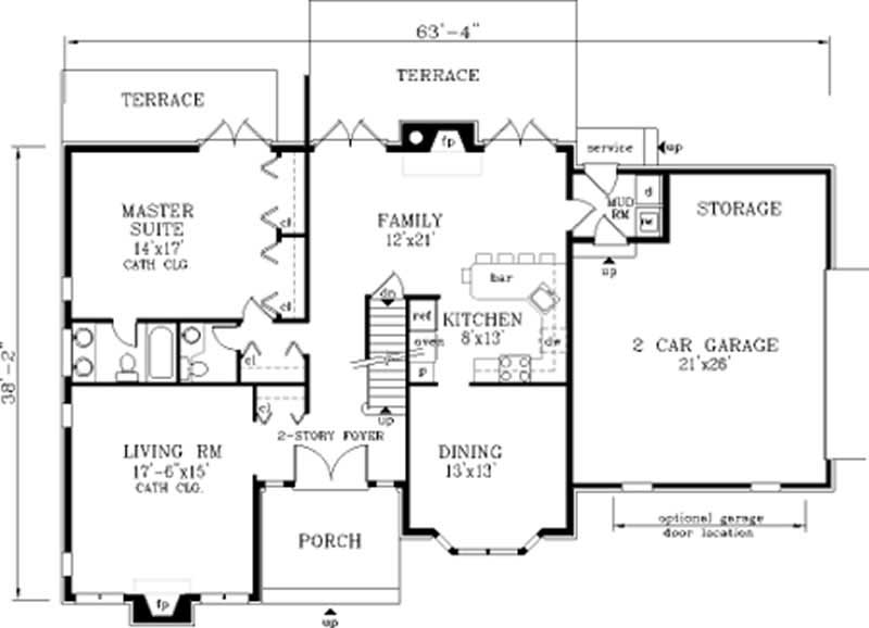 Traditional floor plan 4 bedrms 3 baths 2157 sq ft for 1120 westchester place floor plan