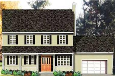 3-Bedroom, 1918 Sq Ft Country House Plan - 105-1121 - Front Exterior
