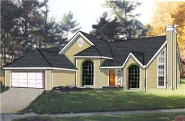 3-Bedroom, 1843 Sq Ft Ranch Home Plan - 105-1122 - Main Exterior