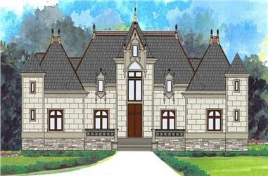 4-Bedroom, 4458 Sq Ft European Home Plan - 106-1000 - Main Exterior