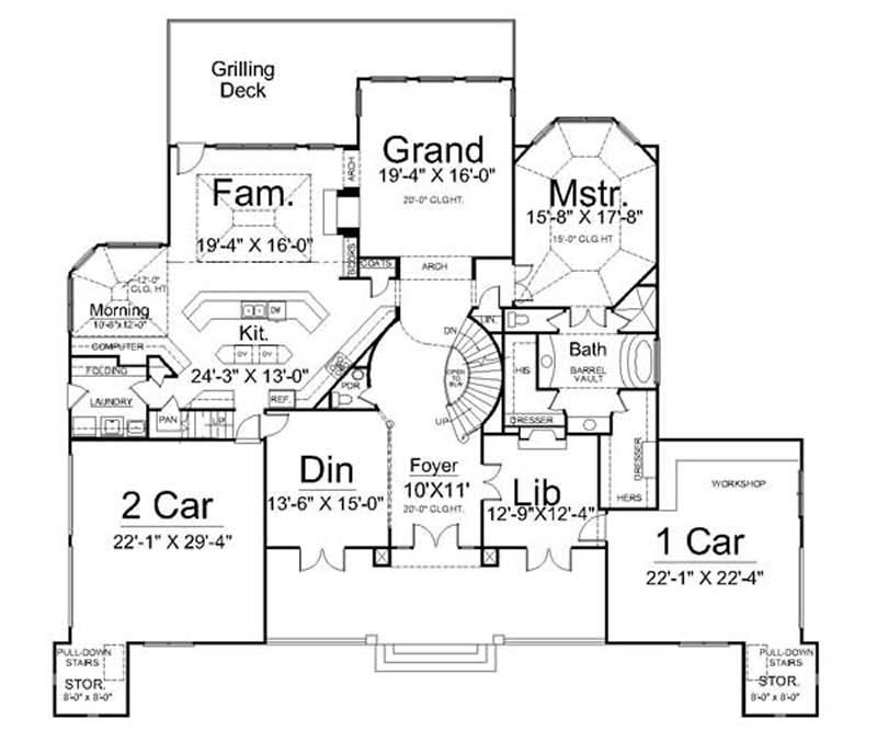 European home with 4 bdrms 4458 sq ft house plan 106 1000 for 1000 sq ft house plans first floor