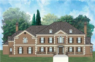 4-Bedroom, 5356 Sq Ft European Home Plan - 106-1001 - Main Exterior