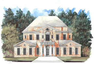 4-Bedroom, 4102 Sq Ft European Home Plan - 106-1007 - Main Exterior