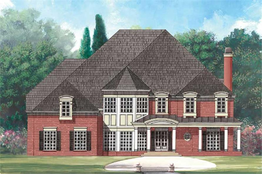 5-Bedroom, 4326 Sq Ft Colonial Home Plan - 106-1013 - Main Exterior