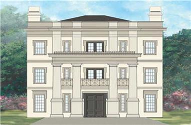 4-Bedroom, 3265 Sq Ft European Home Plan - 106-1014 - Main Exterior