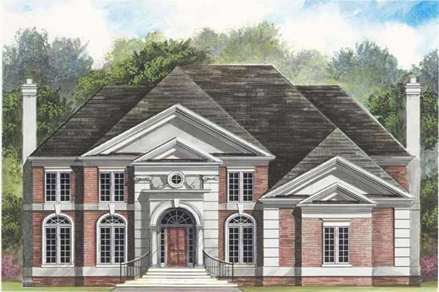 4-Bedroom, 2990 Sq Ft European Home Plan - 106-1016 - Main Exterior