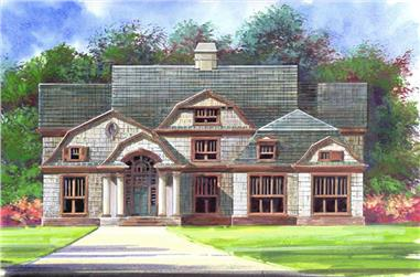 5-Bedroom, 3254 Sq Ft Arts and Crafts House Plan - 106-1017 - Front Exterior