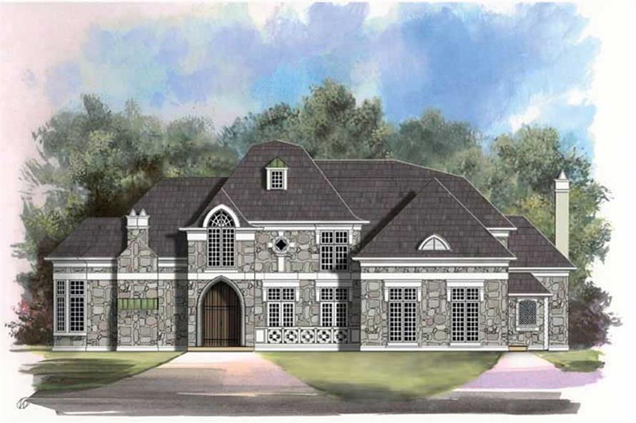 4-Bedroom, 4138 Sq Ft European Home Plan - 106-1019 - Main Exterior