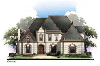4-Bedroom, 3143 Sq Ft European Home Plan - 106-1020 - Main Exterior