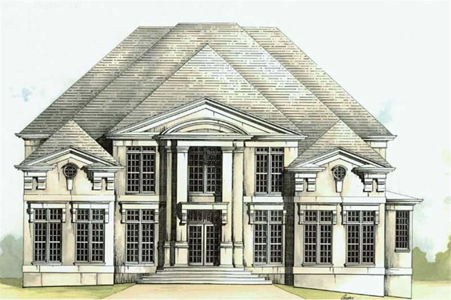 5-Bedroom, 4169 Sq Ft European House Plan - 106-1021 - Front Exterior