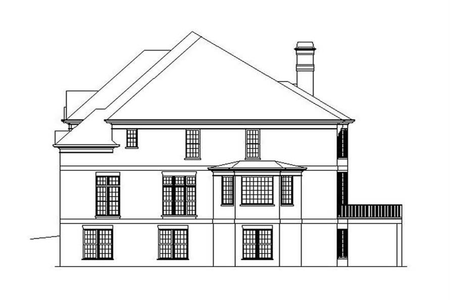 Home Plan Rear Elevation of this 5-Bedroom,4169 Sq Ft Plan -106-1021