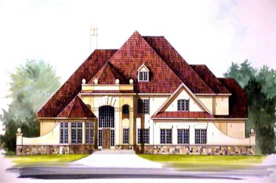 4-Bedroom, 4214 Sq Ft European House Plan - 106-1022 - Front Exterior