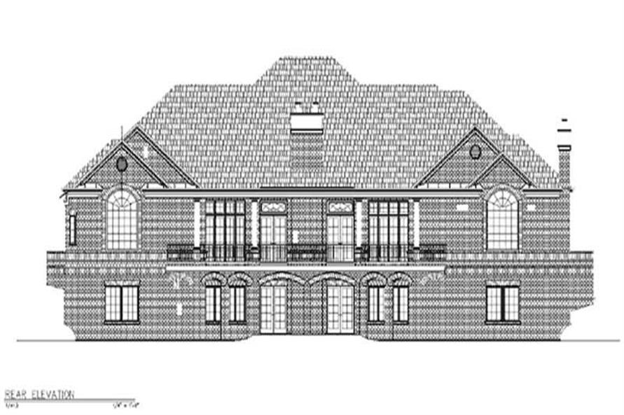 Home Plan Rear Elevation of this 3-Bedroom,4238 Sq Ft Plan -106-1023