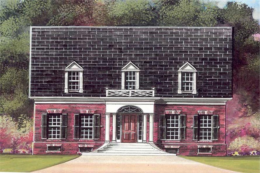 3-Bedroom, 1922 Sq Ft European House Plan - 106-1024 - Front Exterior
