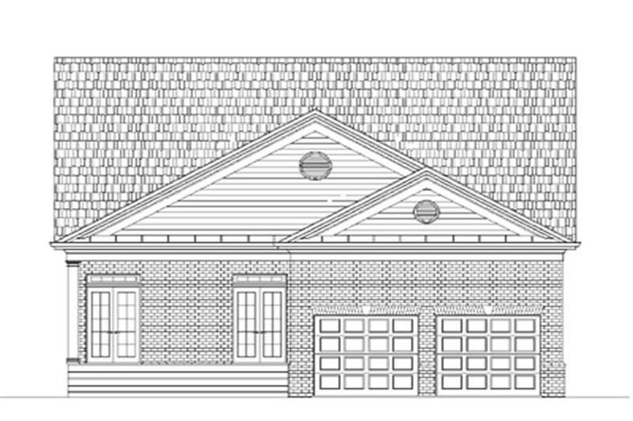 Home Plan Rear Elevation of this 3-Bedroom,1922 Sq Ft Plan -106-1024