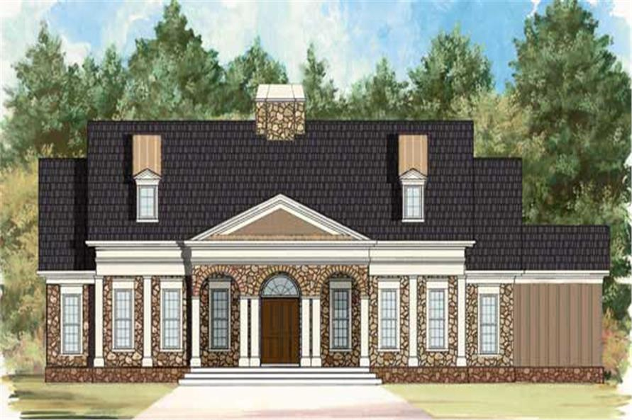 3-Bedroom, 1931 Sq Ft Southern House Plan - 106-1025 - Front Exterior