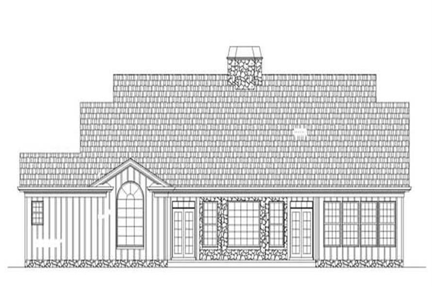 Home Plan Rear Elevation of this 3-Bedroom,1931 Sq Ft Plan -106-1025