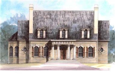4-Bedroom, 4049 Sq Ft European House Plan - 106-1026 - Front Exterior