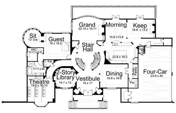House Plan 106 1031 5 Bedroom 7802 Sq Ft European