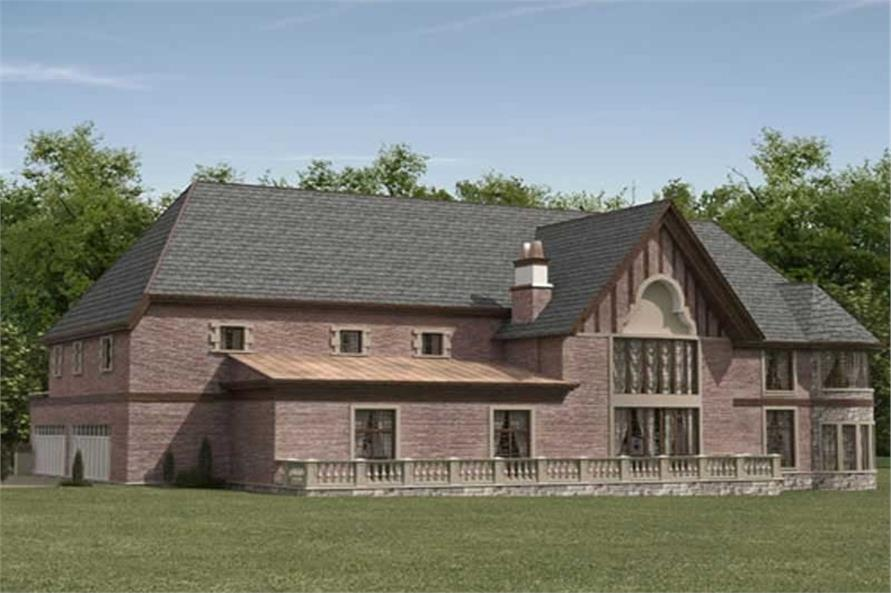 Rear View of this 5-Bedroom,7802 Sq Ft Plan -7802