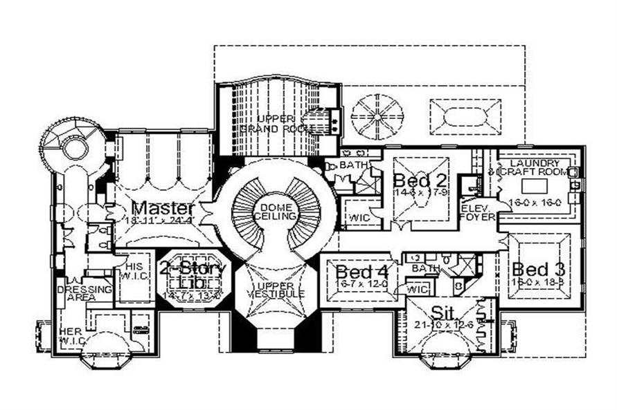 Home Plan Other Image of this 5-Bedroom,7802 Sq Ft Plan -7802