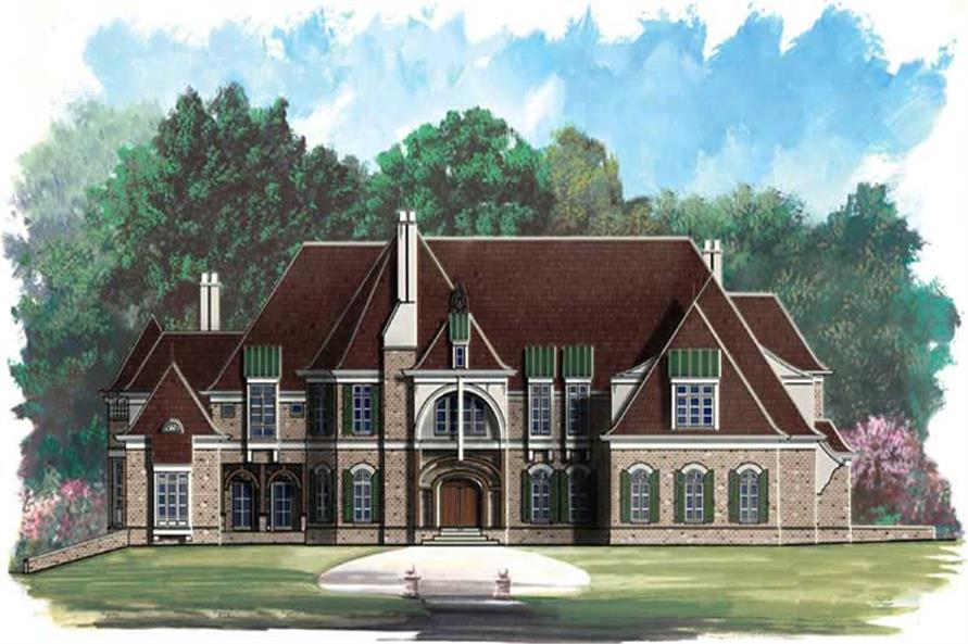 5-Bedroom, 8280 Sq Ft European Home Plan - 106-1032 - Main Exterior