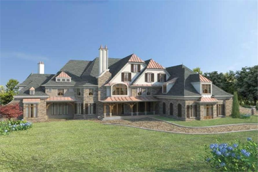 5-Bedroom, 8327 Sq Ft European Home Plan - 106-1033 - Main Exterior