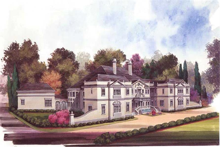 5-Bedroom, 8257 Sq Ft European Home Plan - 106-1035 - Main Exterior