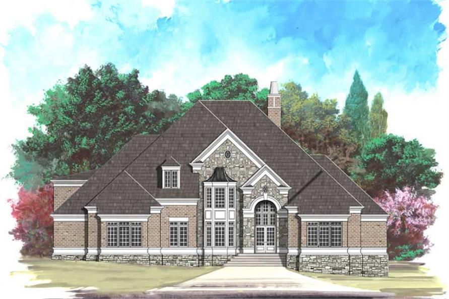 5-Bedroom, 3900 Sq Ft European Home Plan - 106-1038 - Main Exterior