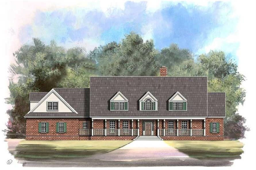 4-Bedroom, 3867 Sq Ft European House Plan - 106-1039 - Front Exterior