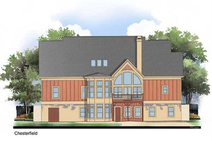 106-1043: Home Plan Rendering-Rear View