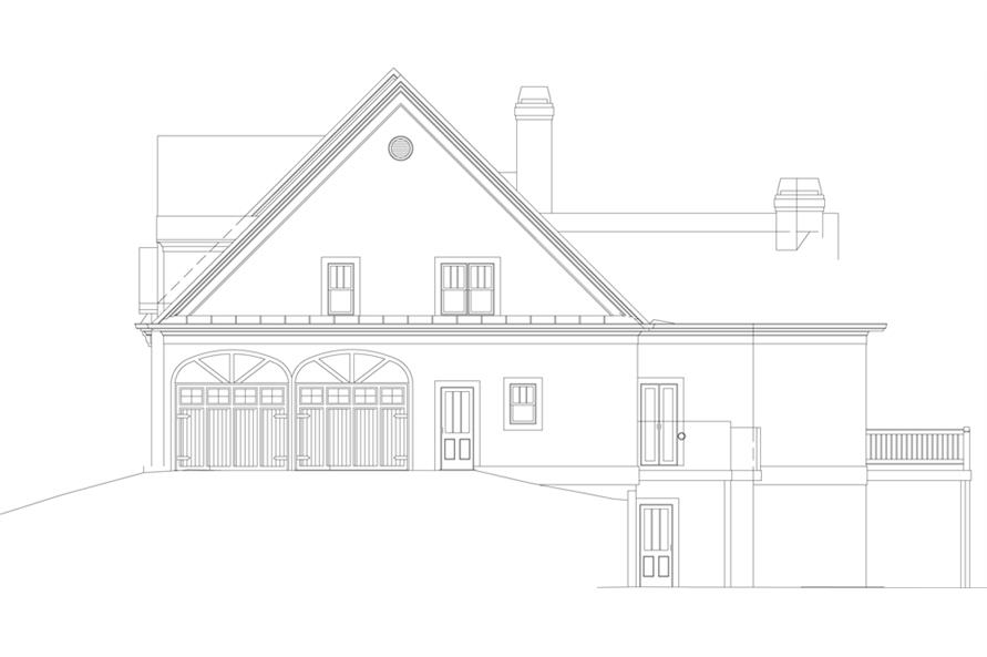 Home Plan Right Elevation of this 4-Bedroom,2963 Sq Ft Plan -106-1043