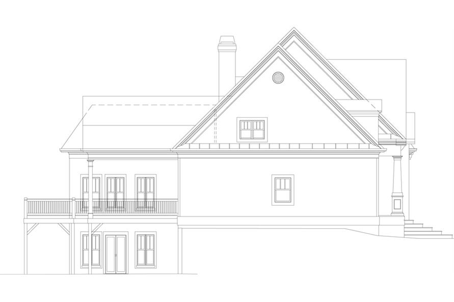 106-1043: Home Plan Left Elevation