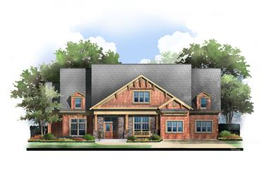 4-Bedroom, 3432 Sq Ft Luxury House Plan - 106-1043 - Front Exterior