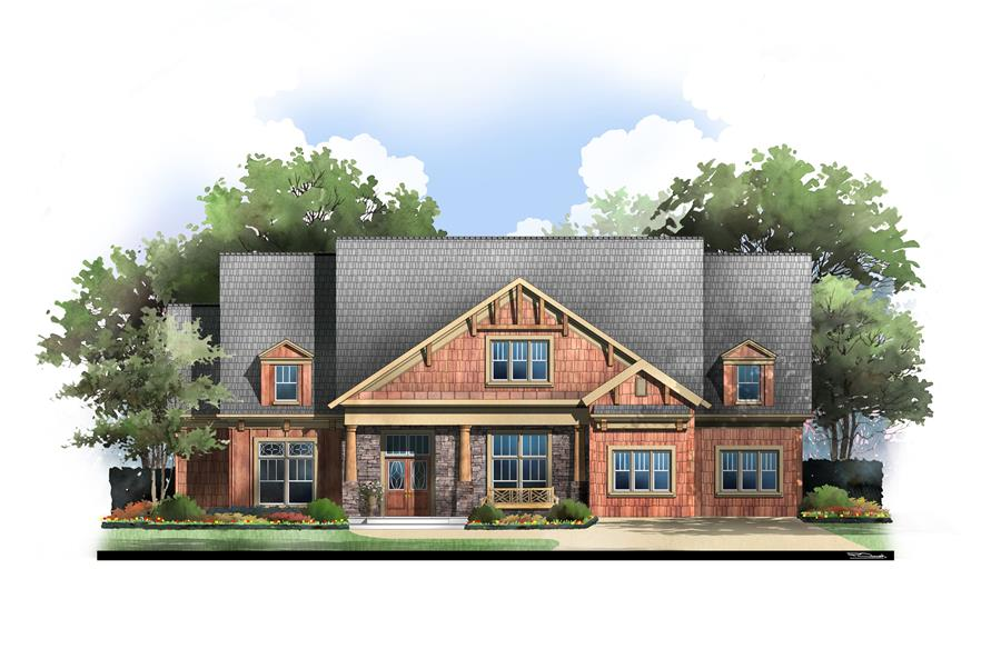 4-Bedroom, 2963 Sq Ft Luxury House Plan - 106-1043 - Front Exterior