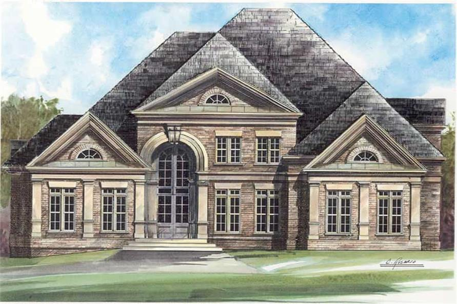 4-Bedroom, 3620 Sq Ft European Home Plan - 106-1048 - Main Exterior