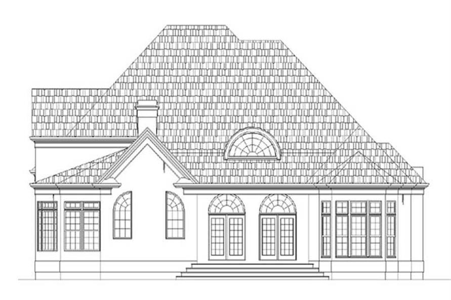 Home Plan Rear Elevation of this 4-Bedroom,3620 Sq Ft Plan -106-1048
