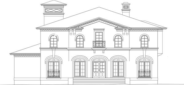106-1051: Home Plan Front Elevation