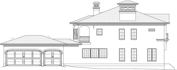 106-1051: Home Plan Left Elevation