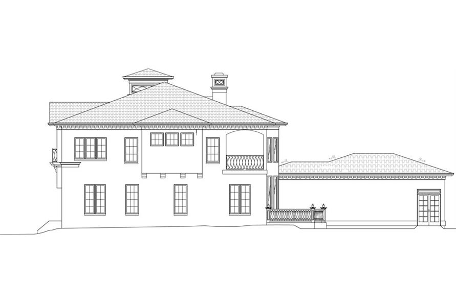 Home Plan Right Elevation of this 4-Bedroom,3405 Sq Ft Plan -106-1051